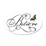Believe Oval Car Magnets