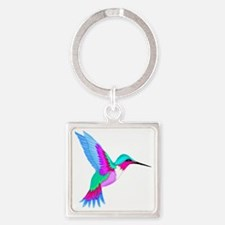HUMMINGBIRD 2 Square Keychain