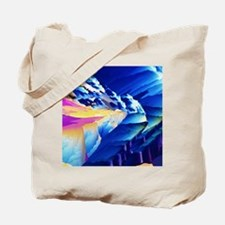 Polarised LM of phenylalanine crystals Tote Bag
