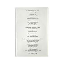 Death Poem By P. Sanders Magnets