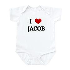 I Love  JACOB Infant Bodysuit