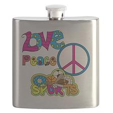 Love Peace Sports Flask