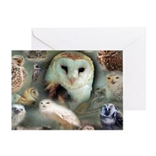 Happy Owls Greeting Card