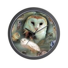 Happy Owls Wall Clock