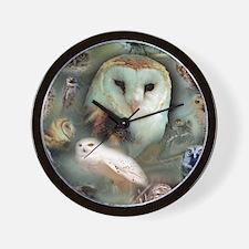 Happy Owls Wall Clock