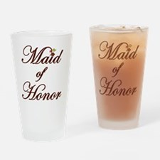 Autumn Maid of Honor Drinking Glass