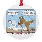 Unlucky Horseshoe Round Ornament