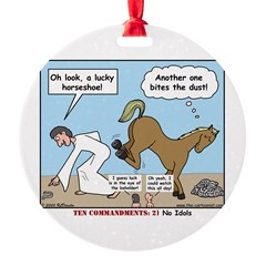 Unlucky Horseshoe Ornament