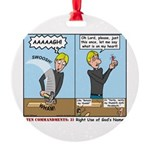 I Swear Round Ornament