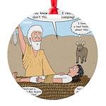 Abraham and Isaac Camping Round Ornament