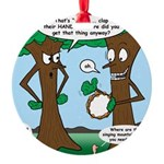 Trees Clapping? Round Ornament