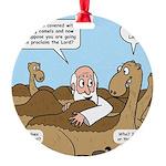 Camel Talk Round Ornament