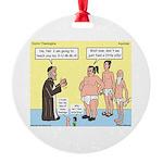 Sumo Theologica Round Ornament