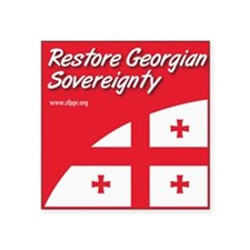 "SF_Georgian_Throw2 Square Sticker 3"" x 3"""