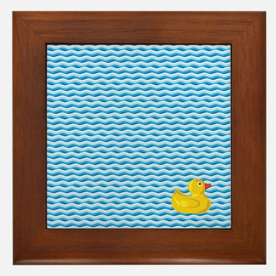Ducky Swim Framed Tile