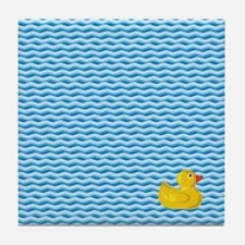 Ducky Swim Tile Coaster