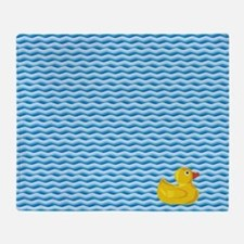 Ducky Swim Throw Blanket