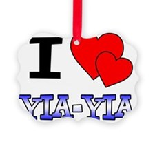 I Love Yia-Yia Picture Ornament