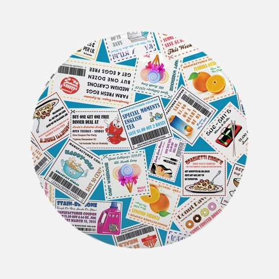 SCATTERED COUPONS Ornament (Round)