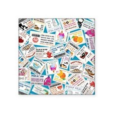 """SCATTERED COUPONS Square Sticker 3"""" x 3"""""""