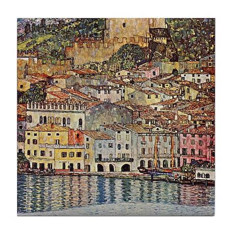 Gustav Klimt Art Tile Malcesina at the Gardasee