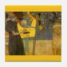 Gustav Klimt Art Tile Coaster - Music