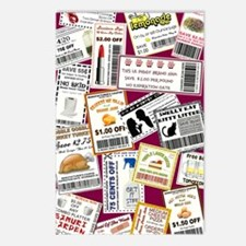 SCATTERED COUPONS Postcards (Package of 8)