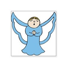 Blue prayer angel wish you a happy and safe holida
