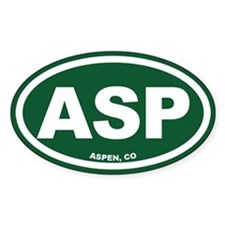 Aspen Oval Decal