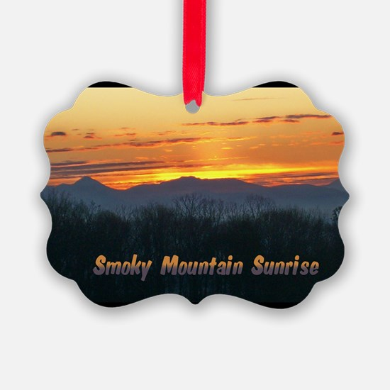 Smoky Mountain Post Card Front Ornament