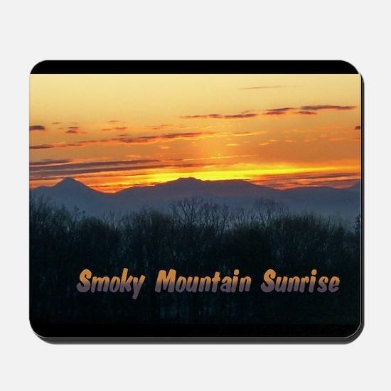Smoky Mountain Post Card Front Mousepad