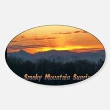 Smoky Mountain Post Card Front Decal