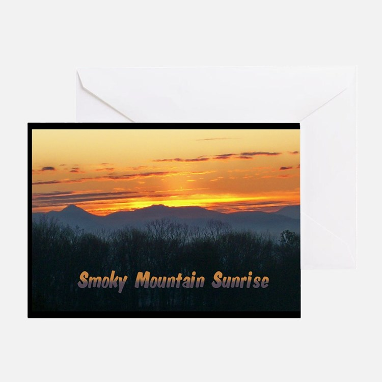 Smoky Mountain Post Card Front Greeting Card
