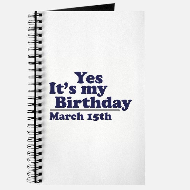 March 15 Birthday Journal
