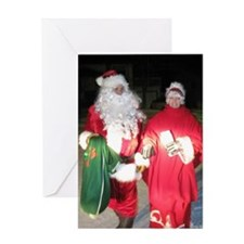 Mr and Mrs Josh Santa Claus Greeting Card