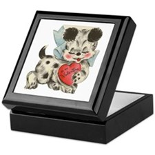 Puppy dog Valentine keepsake  Box