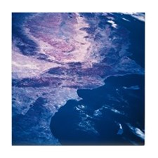 A landscape viewed from space Tile Coaster