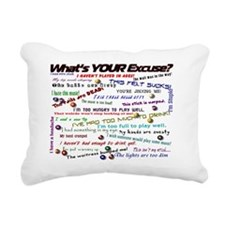 whatsyourexcusecalendar Rectangular Canvas Pillow