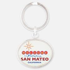 SAN MATEO Oval Keychain