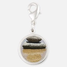 serenity stones Silver Round Charm