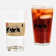 Nevermore Ravens Carte Postale Drinking Glass