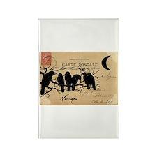 Nevermore Ravens Carte Postale Rectangle Magnet