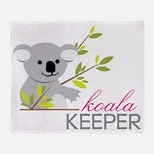 Koala Keeper Throw Blanket