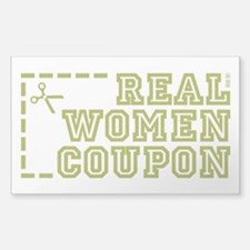 REAL WOMEN COUPON Decal