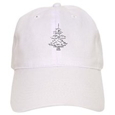 Christmas Word Tree Baseball Cap