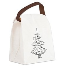 Christmas Word Tree Canvas Lunch Bag