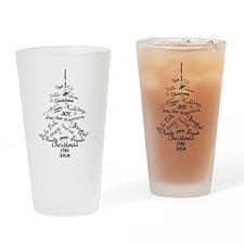 Christmas Word Tree Drinking Glass