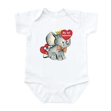 elephant 1st valentine Infant Bodysuit