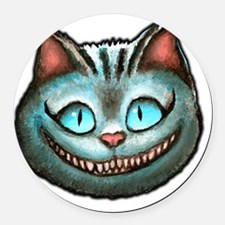 Cheshire face Round Car Magnet