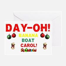 DAY-OH!  BANANA BOAT CHRISTMAS CAROL Greeting Card